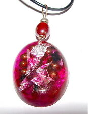 Orgone Energy Generator Pendant Life Force Energy Necklace Pink Oval