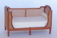 "MINIATURE DOLLHOUSE ""FAUNA"" FRENCH CANE DAYBED  BY MARITZA FOR BESPAQ-MM-019-NWN"