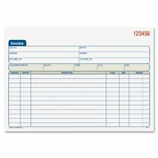 "Adams Carbonless Invoice Book - Tape Bound - 2 Part - Carbonless - 5.56"" X 7.93"""