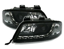 Black clear Headlights front lights with LED DRL for AUDI A6 4B C5 97-01
