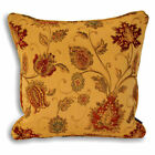 "Luxury Heavy Weight Zurich Cushion Covers, Chenille Tapestry, 18"" X 18"" Gold"