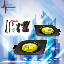 2001 2002 2003 Honda Civic Fog Lights Yellow Front Bumper Lamps FULL KIT