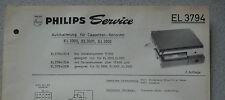Philips EL3794 Service Blatt Stand 06/67 Autohalterung für EL 3300 3301 3302