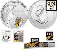 2012 'Hamilton Tiger-Cats' CFL Colorized 25-Cent Coin and Stamp Set (13043)