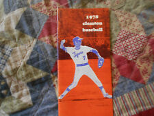 1978 CLEMSON TIGERS BASEBALL MEDIA GUIDE Yearbook Press Book Program college AD