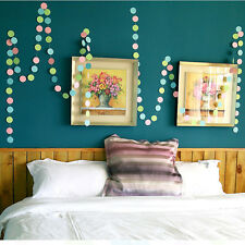 Fashion 4m Colorful Hanging Paper Garlands String Chain Wedding Party Decoration