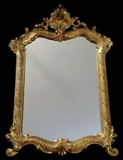Vintage wall mirror hollywood rococo Gothic   style design gold tone poly resin