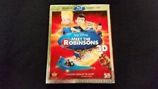Meet The Robinsons 3D+Blu ray+DVD New W/Slipcover,Disney