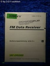 Sony Bedienungsanleitung SRF DR2000 Data Receiver (#3390)