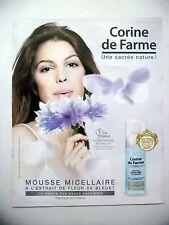 PUBLICITE-ADVERTISING :  CORINE DE FARME Mousse micellaire 2016 Miss France Iris