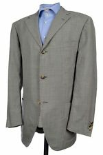 BALDESSARINI HUGO BOSS Caruso Black Houndstooth Silk Sport Coat Blazer Mens 44 L