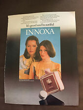 VINTAGE 1975 INNOXA SALON MOISTURE OIL HAIR PRODUCTS ORIGINAL COLOUR ADVERT