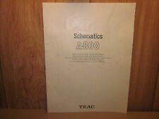 TEAC A-800 SCHEMATIC DIAGRAM--GREAT CONDITION