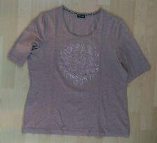 Gerry Weber Shirt 1/2 Arm Modal baumwolle Nieten Glitzer Gr 44/46 Taupe NEU