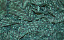GREEN JERSEY 60'S VINTAGE RETRO MINI DIAMOND CROSS JACQUARD STRETCH DRESS FABRIC