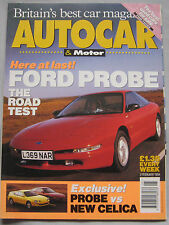 AUTOCAR 2/2/1994 featuring Ford Probe, Toyota Celica GT, Chrysler, Audi