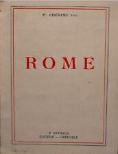 ++H. CHÉRAMY rome ILLUSTRÉ 1936 ARTHAUD RARE++