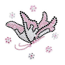 Butterfly Crystal Rhinestones Bling Laptop Notebook Car Bumper Decal Sticker