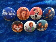 "1"" pinback buttons inspired by ""Bewitched"" classic tv"