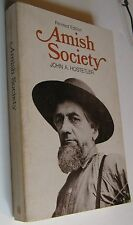 AMISH SOCIETY by John A. Hostetler (revised edition) 1976 Soft Cover Book