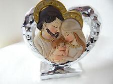 Bomboniera Cuore Sacra Famiglia Battesimo Comunione Cresima con scatola