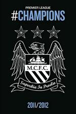 Manchester City Crest : Champions 11-12 - Maxi Poster 61cmx91.5cm (new & sealed)