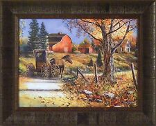 COUNTRY ROADS by Jim Hansel 17x21 FRAMED PRINT Horse Buggy Farm Barn House