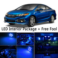 Bulb Car LED Interior Lights Package kit For 2011-2014 Honda Civic Coupe Blue NQ
