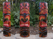 "Tribal Tiki Totem Wood Wall Mask Patio Tropical Bar Decor 20"" Man Cave"