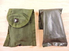 Military Issue First Aid Compass Kit belt clip + Field Dressing Olive Drab Green