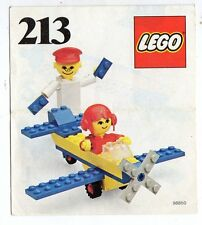 LEGO   213-1: Airplane Ride   NOTICE/ INSTRUCTIONS BOOKLET / BAUANLEITUNG