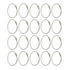 20X Stainless Steel 15cm Wire Keychain Cable Key Ring for Outdoor Hiking PS