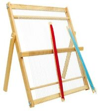 Wooden Large Maxi Weaving Loom with collapsible legs  + 2 shuttles - Craft