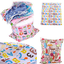 Baby Nappy Wet Dry Cloth Double Zipper Waterproof Diaper Bag Tote Washable