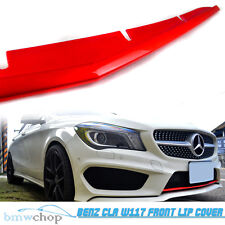 Paint Red Matellic Mercedes Benz W117 CLA Front Lip Spoiler Cover Sport CLA250