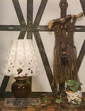 GM19 Lamp Shade & Wall Hanging Patterns Macrame Mischief Craft Book 22 Projects