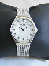 ROTARY WOMEN'S WATCH STAINLESS STEEL LB02609/41 SILVER MESH STRAP GENUINE