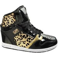 Pastry-Womens-High-Top-Sneakers- shoes Glam pie foil cheetah blackgold 6.5 US