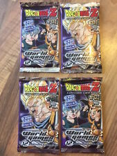Lot 4 Boosters  DRAGON BALL Z !!     WORLD GAMES SAGA        NEUF !