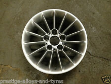 """1 x BMW 16 """"style 48 radial parlé argent roue en alliage * authentique * (e39 série 5)"""