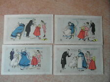 4 x CHROMO Victorian TRADE CARD GRONDARD Litho HERMET La Pipe En Chocolat