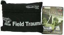 Tactical Field Trauma Kit w/QuikClot First Aid Hunting Camping NEW Compact BLACK