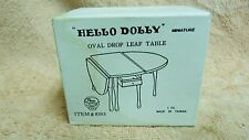 VTG HELLO DOLLY OVAL DROP LEAF TABLE 8303 DOLLHOUSE MINIATURE NIB #10