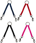 Nylon Two 2 Way Pet Dog Leash Coupler Walk two 2 double dogs 4 colors 3 sizes