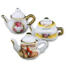Reutter Porzellan 3 Teekannen / 3 Tea Pots Puppenstube 1:12 Art. 1.360/8