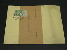 Belgium 1913 perfin RED STAR on wrapper to Germany *3955