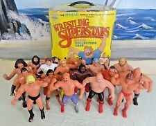 "HUGE Lot: 15 Vintage 1980s LJN 8"" Figures WWF WRESTLING SUPERSTARS w/Case RARE"