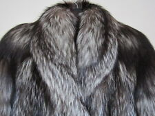 new design 100% real  saga silver fox fur coat