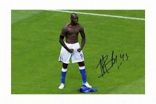 MARIO BALOTELLI AUTOGRAPHED SIGNED A4 PP POSTER PHOTO