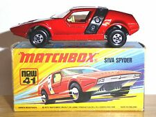 Matchbox Lesney No.41d Siva Spyder In Type 'I1' Box (GC) (NO LINES ON ROOF HOOP)